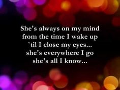 Heaven Knows with lyrics by Rick Price