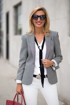 Find out how to wear white for fall this week on my blog featuring our Milano blazer and Tuxedo blouse both available in our shop www.jacketsociety.com