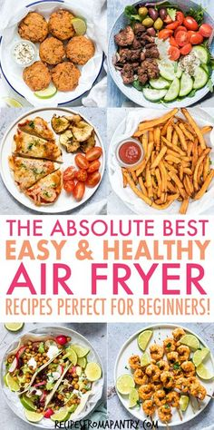 Need some super Healthy Air Fryer Recipes that are tasty, quick & easy to make? Each of the air fryer recipes in this collection are under 425 kcal, with most less than 350 kcal! But you'd never know… Air Fryer Recipes Vegan, Air Fryer Dinner Recipes, Air Fryer Healthy, Healthy Low Carb Recipes, Lunch Recipes, Ninja Recipes, Dishes Recipes, Veggie Dishes, Air Fryer Recipes Weight Watchers