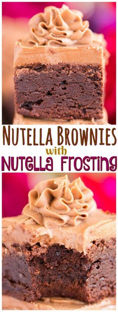 These Easy Nutella Brownies with Nutella Buttercream are remarkable and simple! Ultra fudgy, rich, and insanely decadent brownies, swirled with Nutella, and then topped with Nutella frosting.