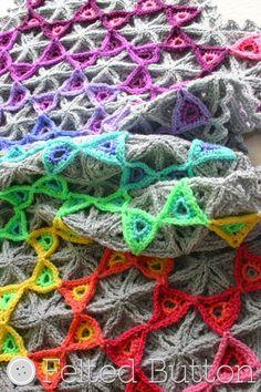 13 more rainbow #crochet patterns - blanket by @feltedbutton ༺✿ƬⱤღ https://www.pinterest.com/teretegui/✿༻