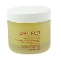 Aroma Sun Expert High Repair After-Sun Balm ( Salon Size ) 50ml/1.69oz by Decleor. $76.94. This beauty product is 100% original.. Features a concentrated formula to repair sun exposed skin Rehydrates restores & comforts skin Enriched with bisabolol & vanilla extract to reduce redness Formulated with nourishing shea butter argan jojoba & avocado oils Contains age-defying geranium & frankincense essential oils Leaves skin protected rejuvenated & stronger To use: Apply a small...