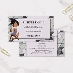 Watercolor Midwife Appointment Business Card