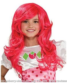 Complete your kids Strawberry Shortcake costume with this child Strawberry Shortcake wig! The pink costume wig fits girls and is great with our kids Strawberry Shortcake character costume! Pink Costume, Dress Up Costumes, Costume Wigs, Costume Shop, Girl Costumes, Costume Ideas, Costume Craze, Adult Costumes, Strawberry Shortcake Costume