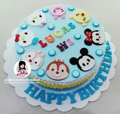 Tsum tsum design fresh cream cake