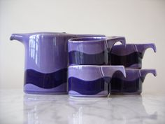 Thomas Rosenthal Germany Celtic Line Irish Fine by Teapots And Cups, Pot Sets, Earthenware, Celtic, Tea Pots, Pottery, Ceramics, Purple, Tableware