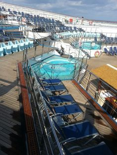 Our ships pool and lounge area..Carnival Conquest