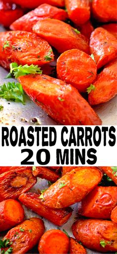 OVEN ROASTED CARROTS Who knew carrots could be SO good? Roasted carrots are an easy, healthy and affordable side dish. This is the only roasted carrot recipe you'll ever need! Side Dishes For Chicken, Healthy Side Dishes, Side Dish Recipes, Dinner Recipes, Healthy Sides, Dinner Ideas, Oven Roasted Carrots, Carrots Oven, Easy Carrot Recipes
