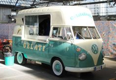 Gelato in converted VW Kombi Van - Pescia Pistoia, Italy