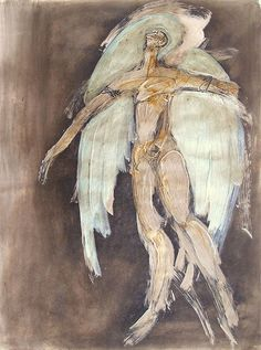 """Skot Foreman Gallery Chrissy Dolan Terrasi """"Winged Icarus Study II"""" 2011 Paint and ink on paper    24 x 18 in  61 x 45 cm Hand-signed lower left"""