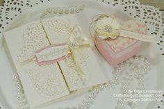 Crafts Bouquet: So in Love Wedding Card and Heart Gift Box
