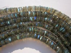 Labradorite faceted tyre beads