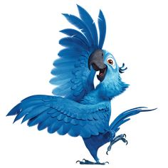 With the new movie sequel, Rio recently out, people are thinking about how cool parrots are. But we learned from the first Rio movie that. Rio 2, Film Rio, Rio Movie, Princesas Disney Zombie, Parrot Cartoon, Rio Photos, Parrot Drawing, Blue Macaw, Blue Sky Studios