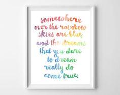 somewhere over the rainbow free printable
