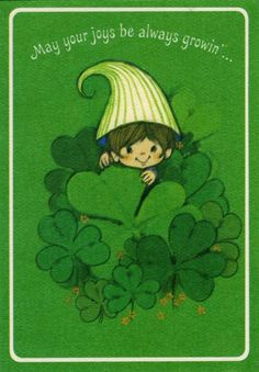 May your joys be always growin' Vintage Greeting Cards, Vintage Postcards, Vintage Images, St Patricks Day Cards, Saint Patricks, Luck Of The Irish, Irish Luck, Irish Culture, Irish Blessing