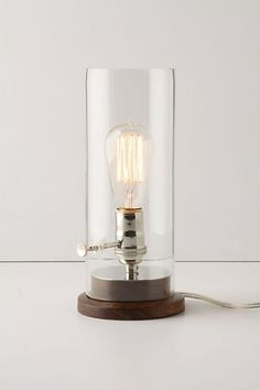Menlo Lamp via Anthropologiefashioned like an old oil lamp really inspiring homegoods product