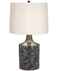 kathy ireland home by Pacific Coast Geo Ceramic Starburst Table Lamp - Gray