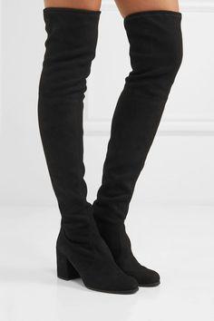 Stuart Weitzman - Tieland Suede Over-the-knee Boots - Black