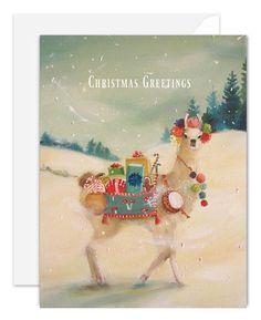 The Northern Christmas Llama Card. SKU JH1129