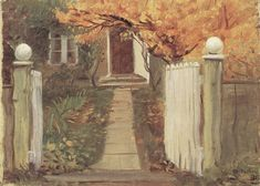 Ancher, Anna: Entrance into our garden (Michael and Anna Ancher-house)