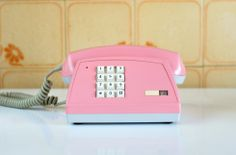 Vintage Pink telephone from the 80s