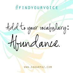 Abundance   Instagram photo by @Sahar Pazirandeh (Sahar Pazirandeh) | Statigram