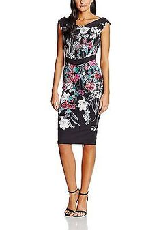 8, Multicoloured (Print), Little Mistress Women's L5251c1a Dress NEW