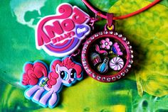 Pinkie Pie Inspired My Little Pony Living Charm Locket, Jewellery, Kawaii, MLP Cosplay, Friendship Is Magic, Lolita, Floating Charm Lockets