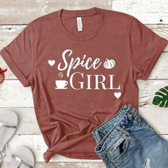 Spice Girl Coffee Shirt Fall Shirt Fall Tee Pumpkin Spice Latte Fall Shirt Women Gift For Her Happy Fall Yall Pumpkin Spice Shirt - Fall Shirts - Ideas of Fall Shirts - T Shirt World, Vinyl Shirts, Monogram Shirts, Custom Shirts, Fall Shirts, Spice Girls, Shirts With Sayings, Shirt Style, Shirt Designs