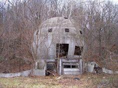 The abandoned concrete round house, Logan, Ohio, USA