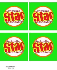star of our school...star of our class...star of our family {free printable tags} for starburst candy favors