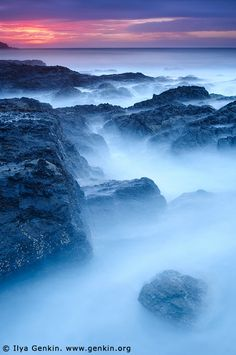 Long Nose Point at Twilight, Broulee Bay, New South Wales, Australia
