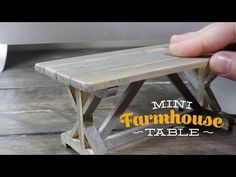 tutorial: miniature farmhouse table