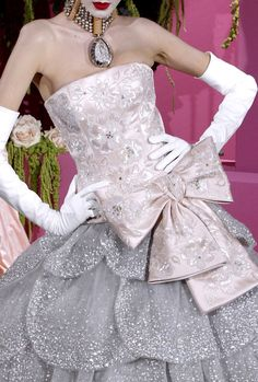 Christian Dior Haute Couture  I have a pin of the original 1950's version of this gown on my couture board!  The House of Dior ROCKS!