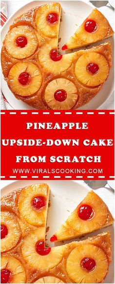 How To Make Easy Pineapple Upside-Down Cake from Scratch - Sweet cakes - Cake Recipes Cake Recipes From Scratch, Easy Cake Recipes, Baking Recipes, Yummy Recipes, Drink Recipes, Just Desserts, Delicious Desserts, Yummy Food, Pineapple Upside Down Cake From Scratch