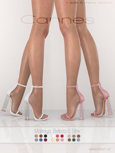 Cannes Heel 18 Colors Fatpack June 2018 Group Gift by Essenz.-Cannes Heel 18 Colors Fatpack June 2018 Group Gift by Essenz Mods Sims 4, Sims 4 Mods Clothes, Sims 4 Clothing, Sims 4 Mm Cc, Sims Four, Vêtement Harris Tweed, Mode Adidas, The Sims 4 Skin, Sims 4 Traits