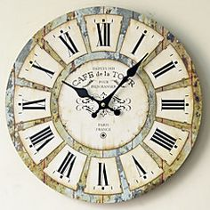 Traditional+Country+Retro+Floral/Botanicals+Characters+Music+Wall+Clock+Round++Indoor/Outdoor+Clock+–+AUD+$+49.01