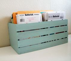 Make crates with scraps for kid's books