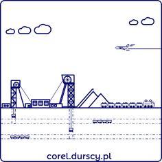 Przemysłowa kraina 2/3 #2 #corel_durscy_pl #durskirysuje #corel #coreldraw #vector #vectorart #illustration #draw #art #digitalart #graphics #flatdesign #flatdesign #icon #przemysł #fabryka #kopalnia #industry #factory #mine #kombajm #tryptyk #triptych #silesia #slask #katowice #kato Vector Icons, Line Chart, Industrial, Diagram, Math, Illustration, Ideas, Design, Math Resources