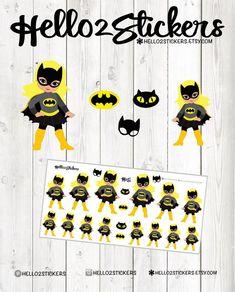 Bat Planner Stickers For Erin Condren Birthday Party Click Through