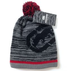 9a80567c359 NEW Men Women ECKO UNLTD POM BEANIE Gray Red Big Rhino Winter Knit Ski Hat