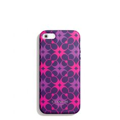 The Iphone 5 Case In Waverly Signature Print from Coach