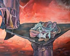 Banishment Size: 120 x 150 cm, oil on woodfibre