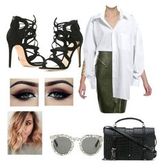 """Untitled #37"" by ralucanitescu on Polyvore featuring beauty, Yves Saint Laurent and Alexandre Birman"