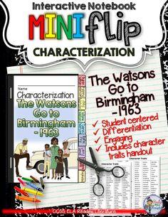 The Watsons Go To Birmingham 1963 Interactive Characterization