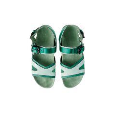 サンダル ❤ liked on Polyvore featuring shoes and burberry prorsum