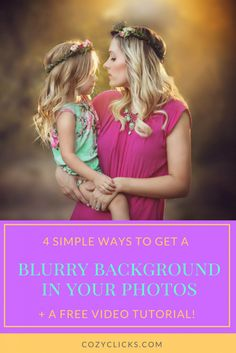 Easy ways to blur the background in your photos. Get a blurry background in your photo with these 4 easy steps. PLUS a bonus video...