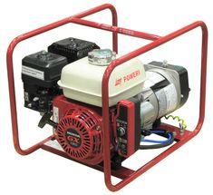 Poweri 2801 H-S Bensiiniaggregaatti kVA / kW Sähkökäynnisteinen