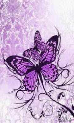 purple butterflies ~ our symbol ~