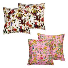Get The Combo Of 4 Halowishes Handmade Cotton Cushion Cover Set